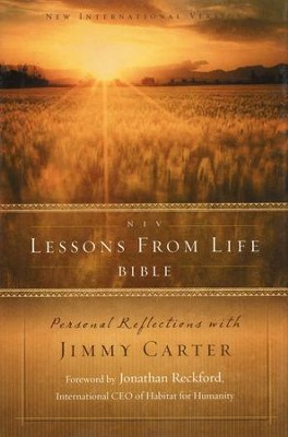 NIV Lessons from Life Bible: Personal Reflections with Jimmy Carter - Slightly Imperfect  -     By: Jimmy Carter