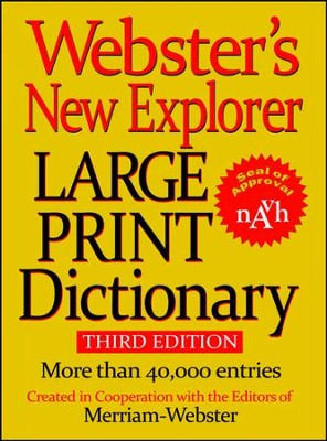 Webster's New Explorer Large Print Dictionary   -