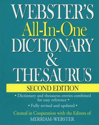 Webster's All-in-One Dictionary & Thesaurus, Second Edition  -
