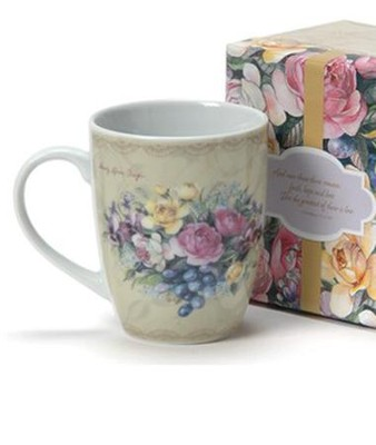 Among the Roses Boxed Mug                -     By: Sandy Clough