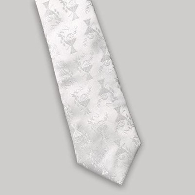 Communion Tie for Boys, White  -