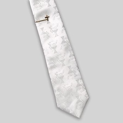 Communion Tie and Tie Bar for Boys, White  -