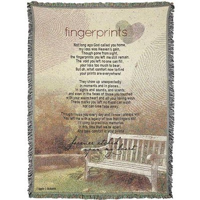 Fingerprints, Forever Etched Upon My Heart Throw  -