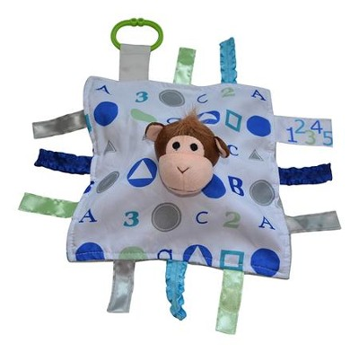 Monkey, ABC Lovey Tag Blankie  -
