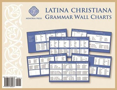 Latina Christiana I and II Grammar Charts   -