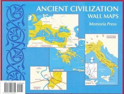 Ancient Civilization Small Wall Maps   -