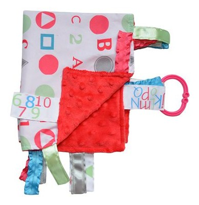 ABC Lovey Tag Blankie, Pink, Blue, Green  -