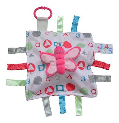 Butterfly, ABC Lovey Tag Blankie  -
