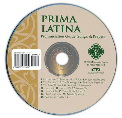 Prima Latina, Pronunciation CD   -