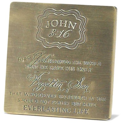 For God So Loved the World Tabletop Plaque  -