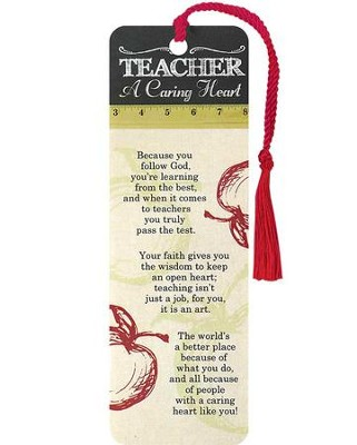 Teacher, A Caring Heart Bookmark  -