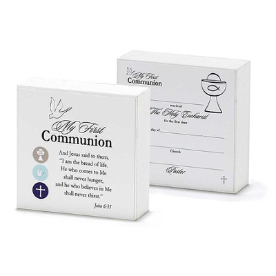 My First Communion, Double-Sided Tabletop Plaque  -