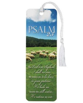 Psalm 23 Tassel Bookmark  -