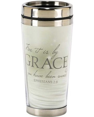 For It is By Grace Travel Mug, Ephesians 2:8  -
