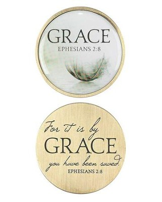 For It Is By Grace Pocket Stone, Ephesians 2:8  -