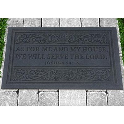 As for Me and My House, Door Mat, Grey    -