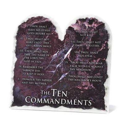 Ten Commandments Tabletop Plaque  -