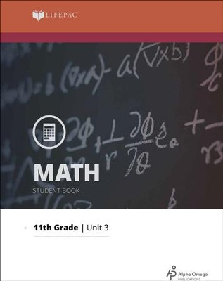 Grade 11 Math Lifepac 3: Linear Equations and Inequalities  -