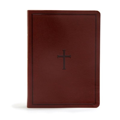 KJV Study Bible--soft leather-look, brown  -