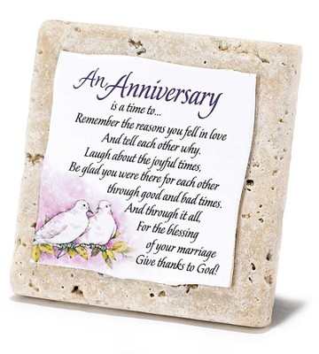 An Anniversary Tabletop Plaque  -