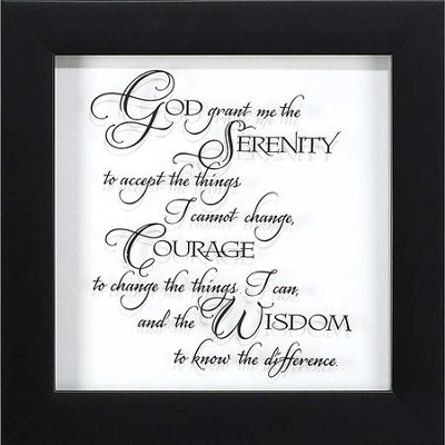 Serenity Prayer Framed Art  -