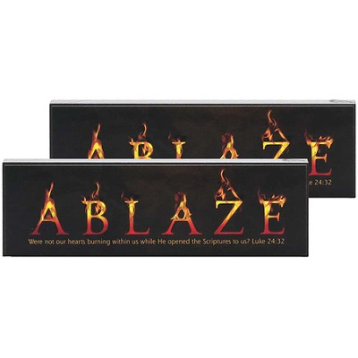 Ablaze Double-sided Tabletop Plaque  -     By: Robert Avery