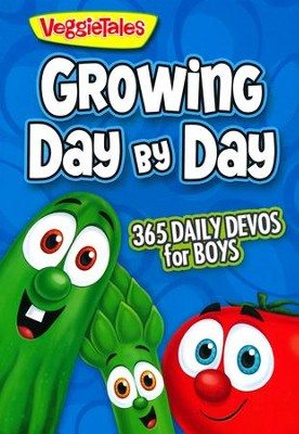 Growing Day by Day: 365 Daily Devos for Boys  -     By: VeggieTales