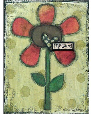 Blessed Flower Wall Plaque  -     By: Lisa Larson