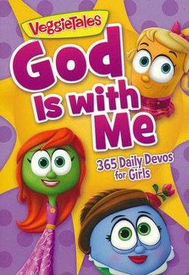 God is with Me: 365 Daily Devos for Girls   -     By: VeggieTales