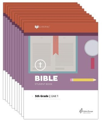 Lifepac Bible, Grade 5, Workbook Set (Revised)   -     By: Alpha Omega