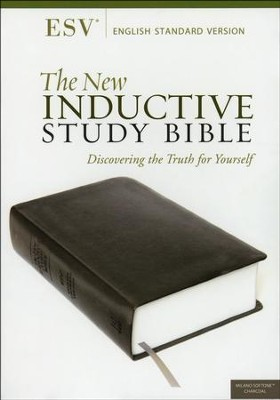 The ESV New Inductive Study Bible, Milano Softone, Charcoal  -