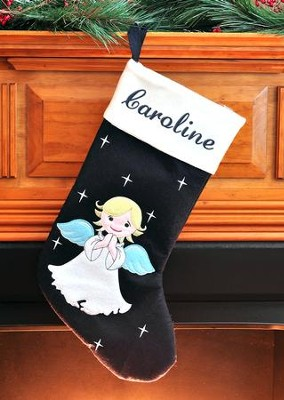 Christmas Angel Christmas Stocking   -