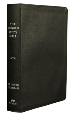 NIV Jeremiah Study Bible, Genuine Leather, black  -     By: Dr. David Jeremiah