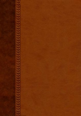 NIV Jeremiah Study Bible, Imitation Leather, brown indexed  -     By: David Jeremiah