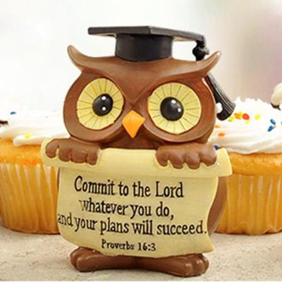 Graduation Owl Figurine   -