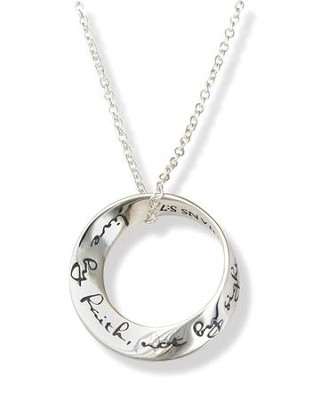 Live By Faith, Not By Sight, Sterling Mobius Necklace   -