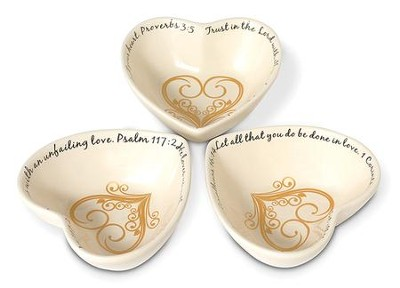 Stacking Heart Trinket Dishes   -
