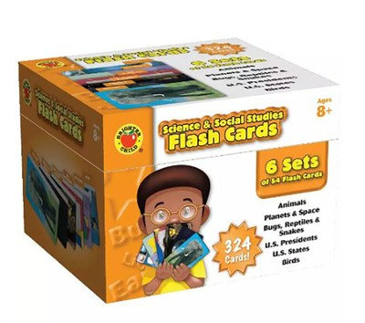 Science & Social Studies Brighter Child Flash Card Set  -