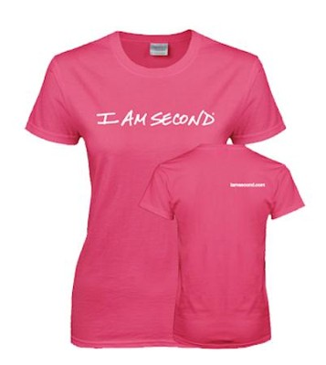I am Second T-Shirt, Pink, X-Large   -