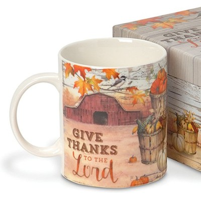 Give Thanks To The Lord, Boxed Mug   -     By: Sandy Clough