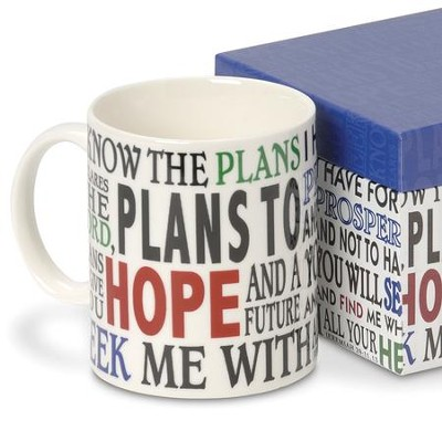 For I Know The Plans, Boxed Mug   -