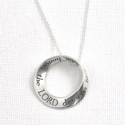 Proverbs 31:30--Sterling Silver Mobius Necklace   -
