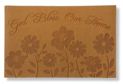 God Bless Our Home Door Mat  -