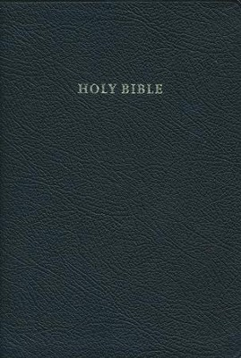 KJV Standard Text Bible, French Morocco leather, black  -