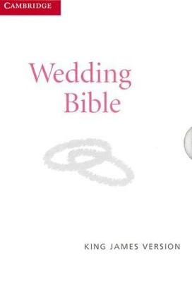 KJV Wedding Bible, French Morocco leather, white  -