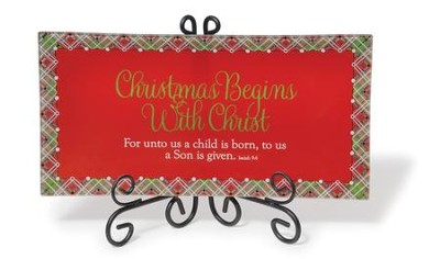 Christmas Begins With Christ, Decorative Plate   -