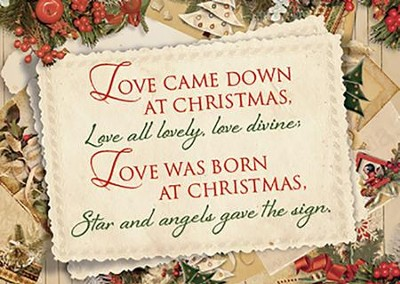 love was born at christmas box of 12 christmas cards kjv - How To Sign A Christmas Card