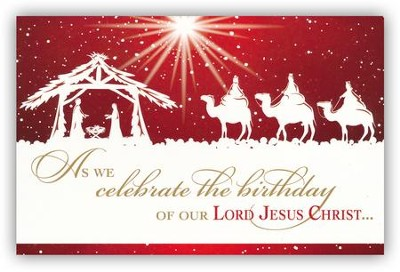 Celebrate the Birthday of Jesus Christ Box of 20 Christmas Cards  -