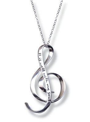 It Is Well with My Soul--Sterling Silver Necklace   -