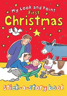 My Look and Point First Christmas Stick-a-Story Book  -     By: Christina Goodings